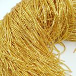 French Wire/Bullion Wire, 2 mm diameter, Dark Gold Color, K4258