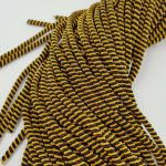 Double Twisted French Wire, 4 mm diameter,  Gold/Black Color, K2016