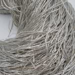 French Wire/Bullion Wire, 1 mm diameter, Silver Color, K1194