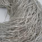 Канитель (трунцал), Серебряный цвет, 1 мм толщина, K1194