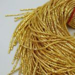 French Wire/Bullion Wire, 3 mm diameter, Bright Gold Color, K1189