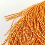 French Wire/Bullion Wire, 1 mm diameter, Orange color, K5695