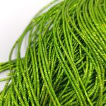 French Wire/Bullion Wire, 1 mm diameter, Green Color, K4973