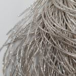 French Wire/Bullion Wire, 0,7 mm diameter, Silver Color, K4975