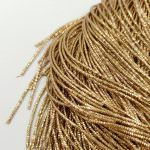 French Wire/Bullion Wire, 1 mm diameter, Antique Gold Color, K5698