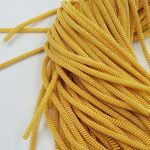 Double Twisted French Wire, 4 mm diameter,  Gold Color, K1093