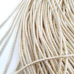 French Wire/Cut Wire, 2 mm diameter, Light Gold Color, K4329