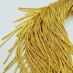 French Wire/Cut Wire, 1 mm diameter, Yellow Gold Color, K4966