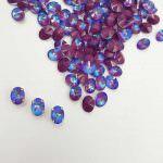 4122 Swarovski Oval Rivoli Crystal Burgundy DeLite 8x6