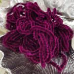 Silk Chenille Au Ver A Soie Soi, Made in France, Ametist Color