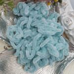 Silk Chenille Au Ver A Soie Soi, Made in France, Turquoise Color