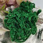 Французская шелковая синель Au Ver A Soie Soi темно-зеленого цвета