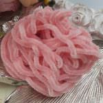 Silk Chenille Au Ver A Soie Soi, Made in France, Pale Pink Color