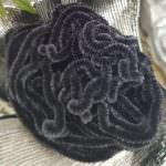 Silk Chenille Au Ver A Soie Soi, Made in France, Dark Grey Color