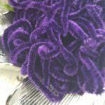 Французская шелковая синель Au Ver A Soie Soi фиолетового цвета