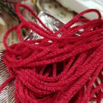 Satin Chenille Thread, Red Color, made in France