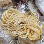 Satin Chenille Thread, Light Yellow Color, made in France