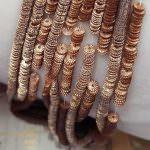 """Фантизийные пайетки """"велосипедные колеса"""", Желтое золото (C2), 3-4 мм, Франция, Langlois-Martin, 500 шт."""