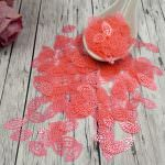 "Fantasy Sequins/Paillettes, Pink Perliane colour, ""Openwork Olive"" styled Sequins 13x8 mm, Made in France by Langlois-Martin, 20 pieces"
