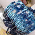 French Flat Sequins/Paillettes, Metallic Mat Medium Blue (#10035) 4 mm, by Langlois-Martin