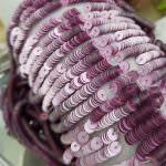 """Французские плоские круглые пайетки 4 мм, бледно-розового цвета """"Матовый металлик"""" (#10014), Langlois-Martin"""