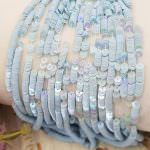 French Flat Sequins/Paillettes, Oriental Light Blue (#5034) Sequins, Made in France by Langlois-Martin