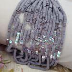 Французские плоские круглые пайетки, Цвет Серого камня (#5172) Ориенталь, Langlois-Martin