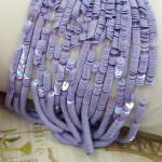 French Flat Sequins/Paillettes, Oriental Light Purple (#5025) Sequins 4 mm, Made in France by Langlois-Martin