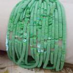 Французские плоские круглые пайетки, Желто-зеленый (Шартрёз) Ориенталь (#5050), Langlois-Martin