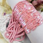 French Flat Sequins/Paillettes, Oriental Pink (#5010) Sequins 4 mm, Made in France by Langlois-Martin