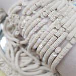 French Flat Sequins/Paillettes, Oriental White color (5002) Sequins, Langlois-Martin