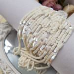 French Flat Sequins/Paillettes, Oriental Ivory color (#5001) Sequins, Langlois-Martin