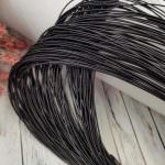 Stiff French Wire, 1-1.25 mm diameter, Black Color, KS1443-1/1443-2