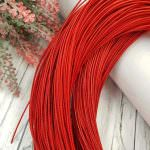 Stiff French Wire, 1 mm diameter, Red Color, KS6147