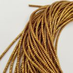 Spiral French Wire, 2 mm diameter, Antique Gold Color, K1172