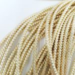 Spiral French Wire, 2 mm diameter, Light Gold Color, K1173