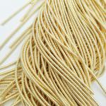 Spiral French Wire, 1.5 mm diameter, Light Gold Color, K1182