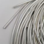 Smooth French Wire, 3 mm diameter, Silver Color, K1186