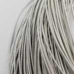 Stiff French Wire, 1-1.25 mm diameter, Silver Color, KS1438-1/1438-2
