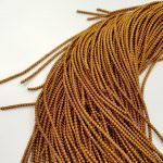 Spiral French Wire, 2 mm diameter. Golden brown color, K4263