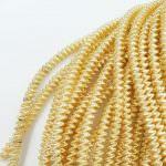 Спиральная канитель, Светло-золотой цвет, 4 мм толщина, K4758
