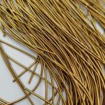 Soft French Wire, 1 mm diameter, Antique Gold Color, K781