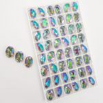 4120 Swarovski Oval Crystal Paradise Shine 14x10