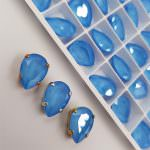 4320 Кристалл Swarowski, Форма груши, Summer Blue, 14x10