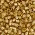 TOHO Round Beads 8/0 Silver-Lined Frosted Light Topaz