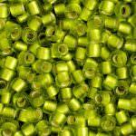 Бисер TOHO круглый 8/0, внутреннее серебрение лаймово-зеленый с эффектом заморозки