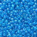 TOHO Round Beads 11/0 Transparent-Rainbow Dark Aqua