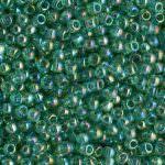 TOHO Round Beads 11/0 Transparent-Rainbow Dark Peridot