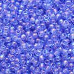 TOHO Round Beads 11/0 Transparent-Rainbow Light Sapphire
