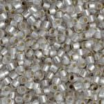 TOHO Round Beads 11/0 Silver-Lined Frosted Crystal